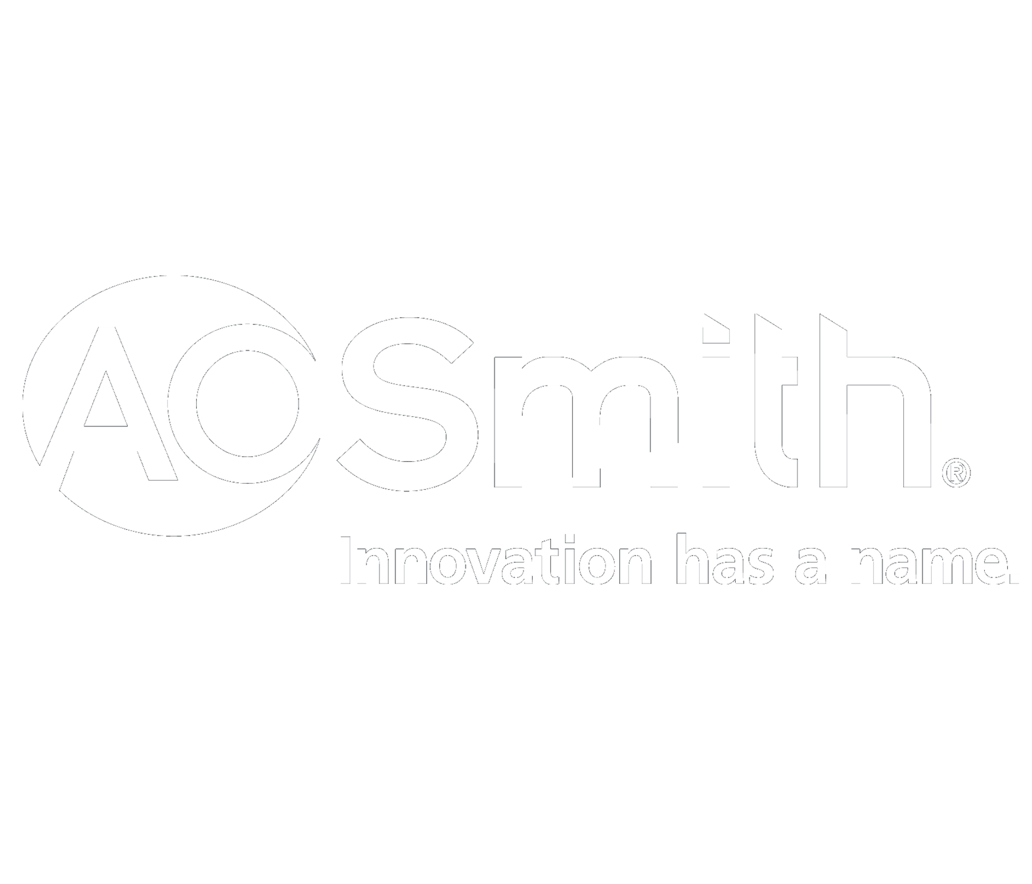 AO Smith Logo in white
