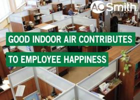 Good indoor air contributes to employee happiness