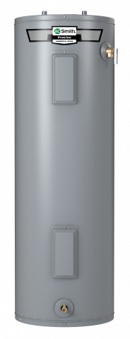 Tall electric water heater
